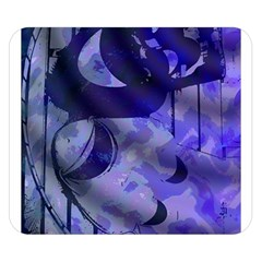 Blue Theater Drama Comedy Masks Double Sided Flano Blanket (small)