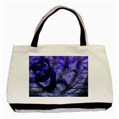 Blue Comedy Drama Theater Masks Basic Tote Bag (two Sides)
