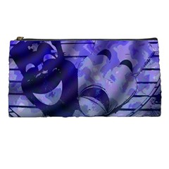 Blue Comedy Drama Theater Masks Pencil Cases