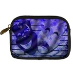 Blue Comedy Drama Theater Masks Digital Camera Cases Front