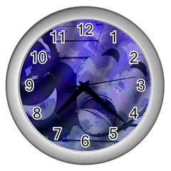 Blue Comedy Drama Theater Masks Wall Clocks (silver)