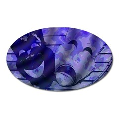 Blue Comedy Drama Theater Masks Oval Magnet