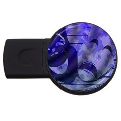 Blue Comedy Drama Theater Masks Usb Flash Drive Round (2 Gb)