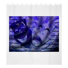 Blue Comedy Drama Theater Masks Shower Curtain 66  X 72  (large)