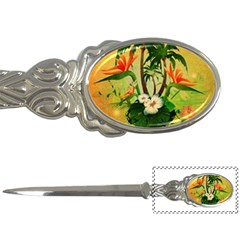 Tropical Design With Flowers And Palm Trees Letter Openers