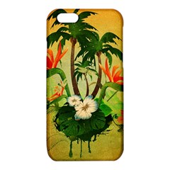 Tropical Design With Flowers And Palm Trees iPhone 6/6S TPU Case