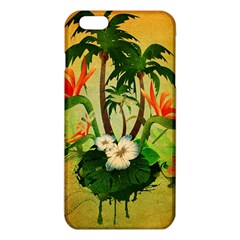 Tropical Design With Flowers And Palm Trees iPhone 6 Plus/6S Plus TPU Case