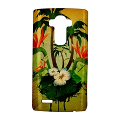 Tropical Design With Flowers And Palm Trees LG G4 Hardshell Case