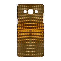 Yellow Gold Khaki Glow Pattern Samsung Galaxy A5 Hardshell Case