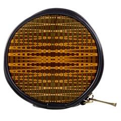 Yellow Gold Khaki Glow Pattern Mini Makeup Bags