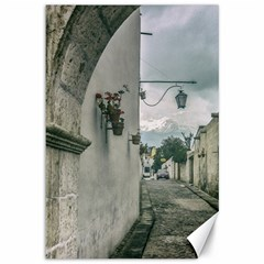 Colonial Street Of Arequipa City Peru Canvas 12  X 18