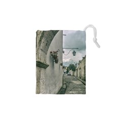 Colonial Street Of Arequipa City Peru Drawstring Pouches (XS)