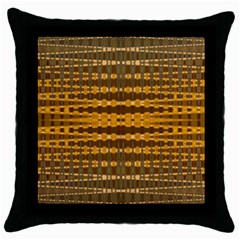Yellow Gold Khaki Glow Pattern Throw Pillow Case (black)