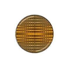 Yellow Gold Khaki Glow Pattern Hat Clip Ball Marker