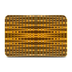 Yellow Gold Khaki Glow Pattern Plate Mats