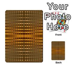 Yellow Gold Khaki Glow Pattern Multi Purpose Cards (rectangle)