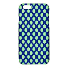 Mod Retro Green Circles On Blue iPhone 6/6S TPU Case