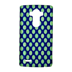 Mod Retro Green Circles On Blue Lg G4 Hardshell Case