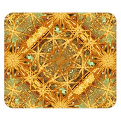 Digital Abstract Geometric Collage Double Sided Flano Blanket (small)