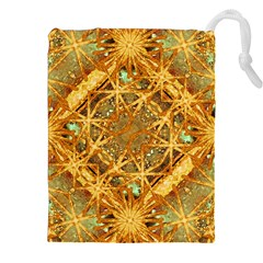 Digital Abstract Geometric Collage Drawstring Pouches (XXL)