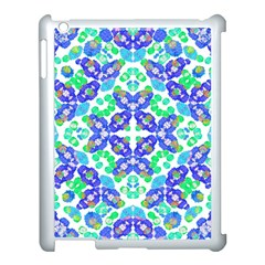 Stylized Floral Check Seamless Pattern Apple Ipad 3/4 Case (white)