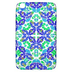 Stylized Floral Check Seamless Pattern Samsung Galaxy Tab 3 (8 ) T3100 Hardshell Case