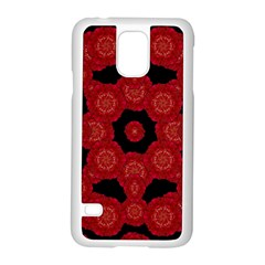 Stylized Floral Check Samsung Galaxy S5 Case (white)