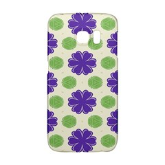 Purple Flowers Pattern        			samsung Galaxy S6 Edge Hardshell Case