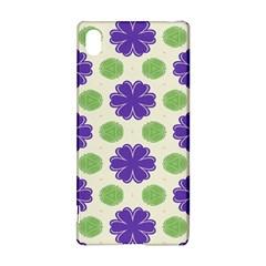 Purple flowers pattern        Sony Xperia Z3+ Hardshell Case