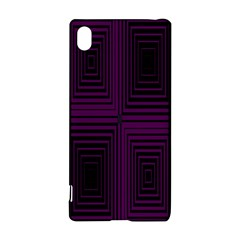 Purple black rectangles         			Sony Xperia Z3+ Hardshell Case