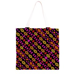 Stylized Floral Stripes Collage Pattern Grocery Light Tote Bag