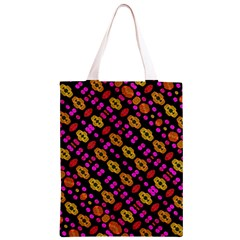 Stylized Floral Stripes Collage Pattern Classic Light Tote Bag