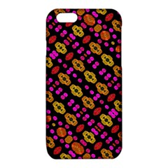 Stylized Floral Stripes Collage Pattern iPhone 6/6S TPU Case