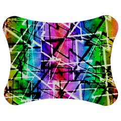Multicolor Geometric Grunge Jigsaw Puzzle Photo Stand (bow)