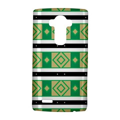 Green rhombus and stripes           			LG G4 Hardshell Case