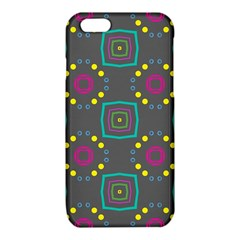 Squares and circles pattern iPhone 6/6S TPU Case