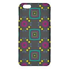 Squares and circles pattern 			iPhone 6 Plus/6S Plus TPU Case