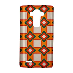 Flowers and squares pattern     			LG G4 Hardshell Case
