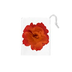 Red Rose Photo Drawstring Pouches (XS)