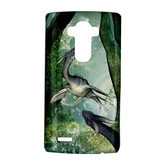 Awesome Seadraon In A Fantasy World With Bubbles LG G4 Hardshell Case