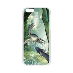 Awesome Seadraon In A Fantasy World With Bubbles Apple Seamless iPhone 6/6S Case (Transparent)