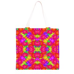 Multicolor Floral Check Grocery Light Tote Bag