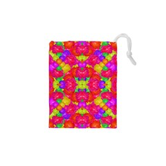 Multicolor Floral Check Drawstring Pouches (XS)