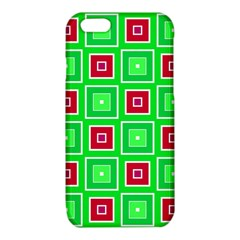 Green red squares pattern    			iPhone 6/6S TPU Case