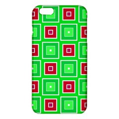 Green Red Squares Pattern    			iphone 6 Plus/6s Plus Tpu Case