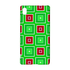 Green Red Squares Pattern    			sony Xperia Z3+ Hardshell Case