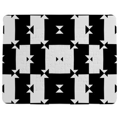 Black And White Check Pattern Jigsaw Puzzle Photo Stand (Rectangular)