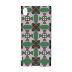 Pink brown flowers pattern     Sony Xperia Z3+ Hardshell Case