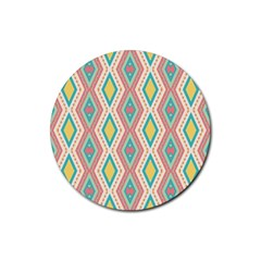 Rhombus Chains       rubber Round Coaster (4 Pack)