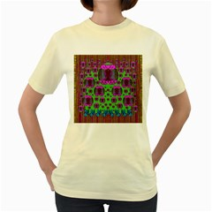 Ladies Looking At Beauty And Love Women s Yellow T-Shirt